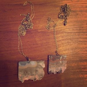 Quartz Necklace Duo
